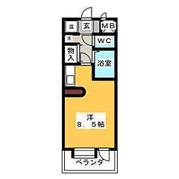 桜山アネックス[5階]の間取り