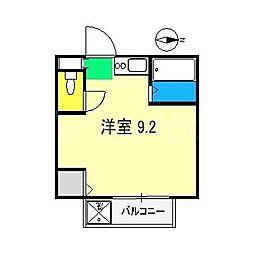 昌世マンションII[1階]の間取り
