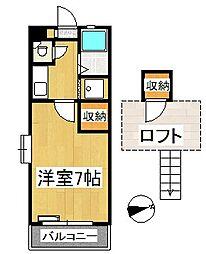 シャトレ隈Ⅰ[2階]の間取り
