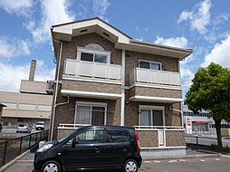 岡山県倉敷市中畝7の賃貸アパートの外観