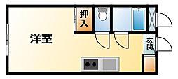 千葉県長生郡一宮町東野の賃貸アパートの間取り