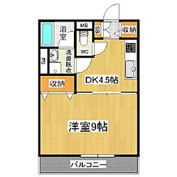 鎌田スカイ[3階]の間取り