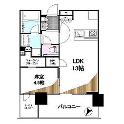 シティタワーズ東京ベイ セントラルタワー 11階1LDKの間取り