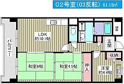 メゾンドーム三軒家[3階]の間取り