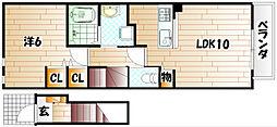 ウエストヒルズIII[2階]の間取り