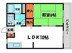アーバンコトブキ 2階1LDKの間取り