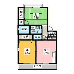 ハイツ松風II[1階]の間取り
