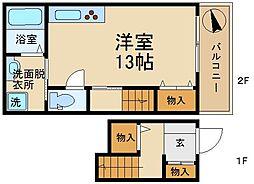 シャーメゾン諏訪[2階]の間取り