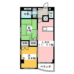TWIN VILLA B館[5階]の間取り