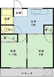 千葉県浦安市猫実1丁目の賃貸アパートの間取り