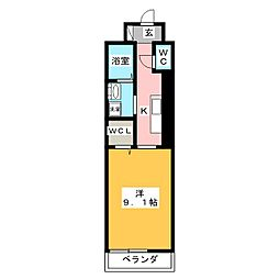 ジュネストラント[1階]の間取り