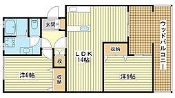 リノスタイル姫路北条[4階]の間取り