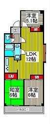 ジオン川口[1階]の間取り
