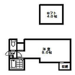 ロイヤルコート元町[204号室]の間取り