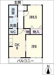 セラフ[2階]の間取り
