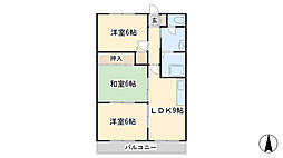 第10廣木興産ビル[603号室]の間取り