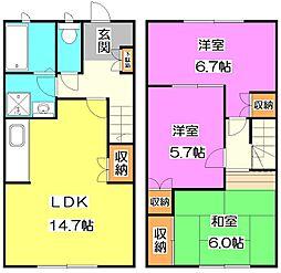 [テラスハウス] 東京都練馬区大泉町5丁目 の賃貸【/】の間取り