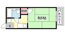 兵庫県神戸市灘区記田町5丁目の賃貸アパートの間取り