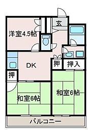 東京都町田市金森1丁目の賃貸マンションの間取り