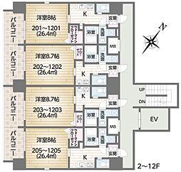 FG城東京橋I 蒲生1 京橋4分[2階]の間取り