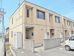 広島県福山市港町2丁目の賃貸アパートの外観