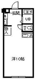 サンケイマンション第6ビル[401号室]の間取り