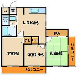 ハイツ神田[2階]の間取り