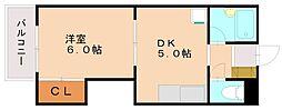 レジデンス山崎[1階]の間取り
