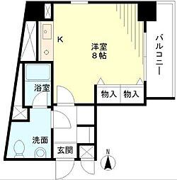 東京都渋谷区恵比寿南1丁目の賃貸マンションの間取り