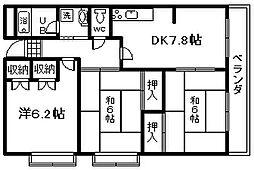 サンハイツオカトモ[7階]の間取り