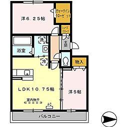 ドゥマンソレーユ[3階]の間取り
