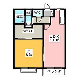 エントピア吉田C[2階]の間取り