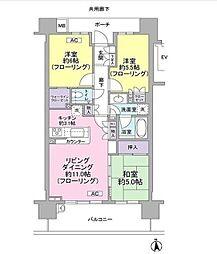 埼玉県さいたま市浦和区常盤4丁目の賃貸マンションの間取り