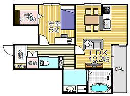 ペット共生型賃貸マンション・Fluffy[205号室]の間取り