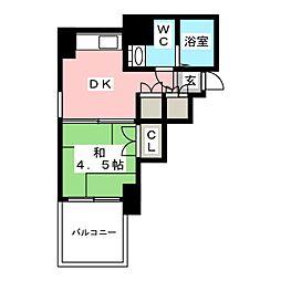 県庁前シティピアエクセル30[9階]の間取り