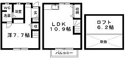 [テラスハウス] 静岡県浜松市東区市野町 の賃貸【/】の間取り