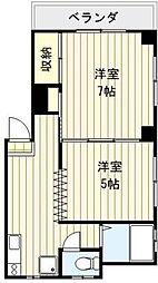 東京都荒川区東日暮里4丁目の賃貸マンションの間取り