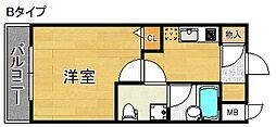 ウッディ天下茶屋[2階]の間取り