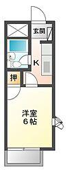 メゾンドールC[1階]の間取り