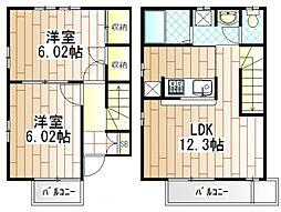 神奈川県相模原市南区西大沼2丁目の賃貸アパートの間取り
