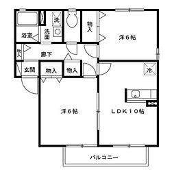 ファミール A/B[2階]の間取り