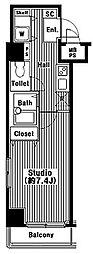 ガラ・シティ芝公園[5階]の間取り