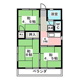 ハイツ翠 B棟[2階]の間取り