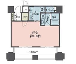 東京メトロ丸ノ内線 新宿御苑前駅 徒歩4分の賃貸マンション 11階ワンルームの間取り