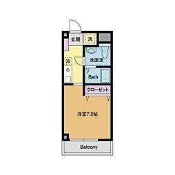 ヒルトップマンション[1階]の間取り