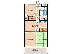 サンモールマンション[3階]の間取り