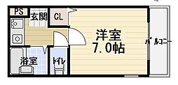 テネシーコート[4階]の間取り