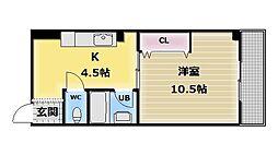 プレミアム新深江[2階]の間取り