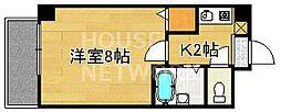 クラージュ山崎[205号室号室]の間取り