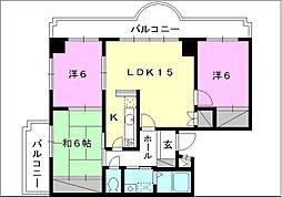 ランドマーク一番町[301 号室号室]の間取り